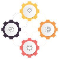 Diagramme d'infographie avec 4 étapes, options ou processus. Modèle d'affaires de vecteur pour la présentation. visualisation de données d'entreprise.
