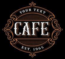 Création de logo de café. vecteur