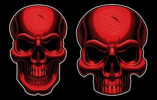 Crâne en demi-teinte vecteur