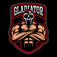 Création de logo de gladiateur. vecteur