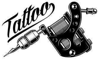 Machine à tatouer (monochrome) vecteur