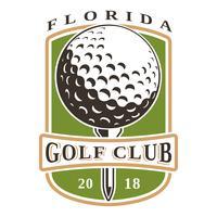 Logo vectoriel de balle de golf