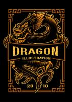 Design de t-shirt dragon