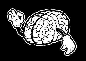 Cerveau de dessin animé