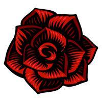 Illustration vectorielle de fleur rose. vecteur