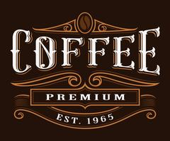 Etiquette vintage café.