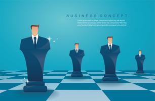 concept de stratégie d'entreprise homme d'affaires d'échecs figure