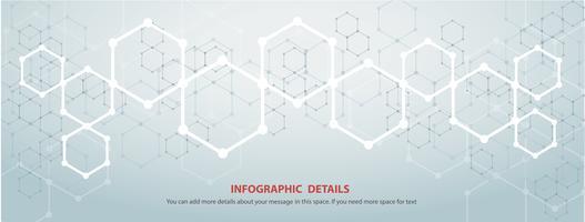 la forme de fond technologie abstraite hexagone concept design vecteur