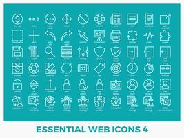 Icônes web mixtes essentielles vecteur