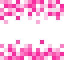 Fond de mosaïque abstraite pixel carré rose vecteur