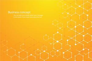 fond hexagonal abstrait et espace d'écriture vecteur