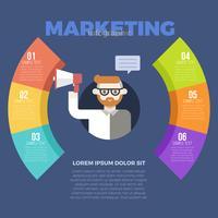 Modèle infographique marketing vecteur