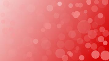 Fond clair de vecteur abstrait bokeh rouge