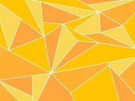 Abstrait polygone jaune artistique géométrique avec fond de ligne blanche vecteur