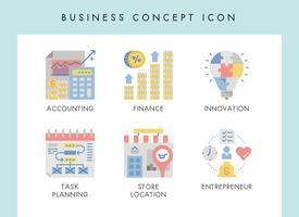 Icônes de concept d'affaires vecteur