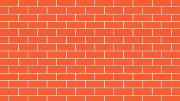 Mur de briques rouges ou orange backgroud - illustration vectorielle vecteur
