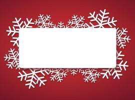 bannière de flocon de neige pour le fond de concept de Noël web vecteur