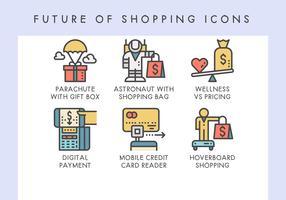 Futur des icônes de shopping