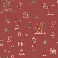 Motif de Noël sans soudure