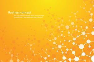 formation scientifique, molécule fond chimie technologie médicale ou scientifique. concept pour votre conception. vecteur