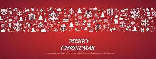 Carte de voeux de Noël avec des motifs de fond vecteur