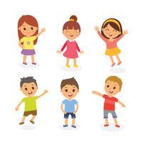 Illustration d'enfants heureux vecteur