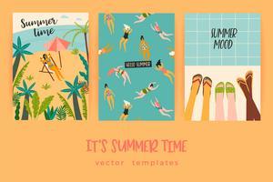 Modèles de vecteur avec plaisir illustration de l'été.