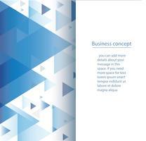 illustration vectorielle abstrait triangle bleu fond papier peint vecteur