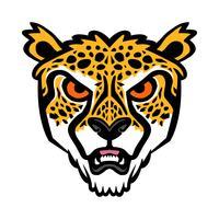 Illustration vectorielle guépard gros chat