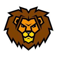 Illustration de dessin animé de tête de lion vecteur