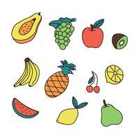 Fruits d'été vecteur