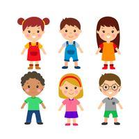 Collection de personnages pour enfants vecteur