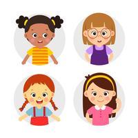 Illustration du personnage de filles vecteur