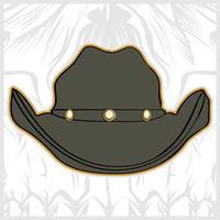 vecteur de dessin chapeau cowboy