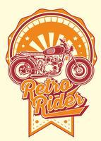 coureur rétro avec vintage motos vecteur