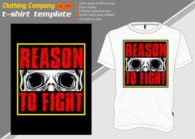 modèle de t-shirt avec crâne et texte .vector vecteur