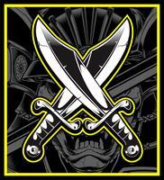 Vecteur d'épées croisées