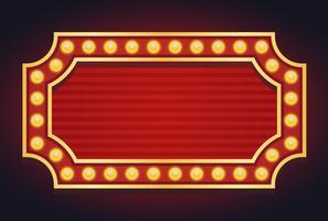 Ampoule de chapiteau de signe lumineux rougeoyant style vintage