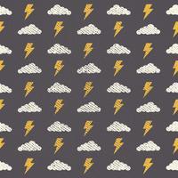 Motif de nuage de vecteur sans soudure Grunge, abstrait-02