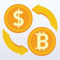Bitcoin flat design, Numérique ou pièce virtuelle