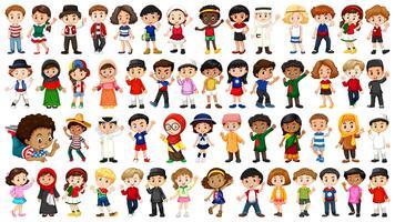 grand groupe de personnes ethniques