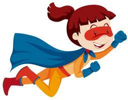 Un personnage de super héros féminin vecteur