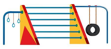 Jeu de barres horizontales pour aire de jeux extérieure