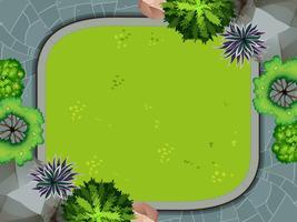 Vue aérienne du jardin vecteur