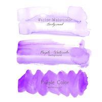 Aquarelle de coup de pinceau violet sur fond blanc. Illustration vectorielle
