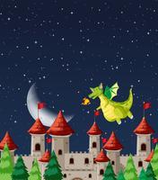 Dragon au château vecteur