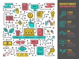 Infographie de l'investissement vecteur