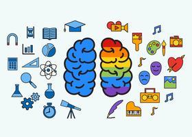 Vecteur de concept de cerveau humain