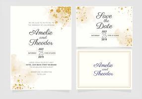 Modèle d'invitation de mariage de vecteur