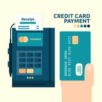 Paiement par carte de crédit vecteur